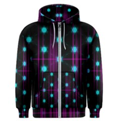 Sound Wave Frequency Men s Zipper Hoodie by HermanTelo