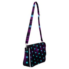 Sound Wave Frequency Shoulder Bag With Back Zipper by HermanTelo