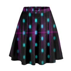 Sound Wave Frequency High Waist Skirt
