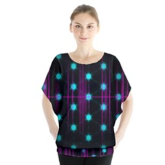 Sound Wave Frequency Batwing Chiffon Blouse by HermanTelo