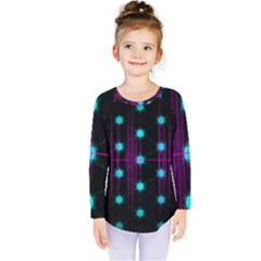 Sound Wave Frequency Kids  Long Sleeve Tee