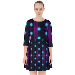 Sound Wave Frequency Smock Dress