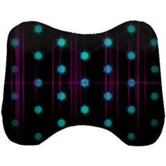 Sound Wave Frequency Head Support Cushion