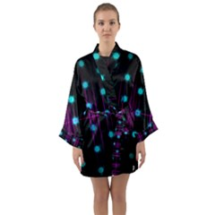 Sound Wave Frequency Long Sleeve Kimono Robe by HermanTelo