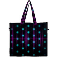 Sound Wave Frequency Canvas Travel Bag
