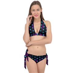 Sound Wave Frequency Tie It Up Bikini Set by HermanTelo