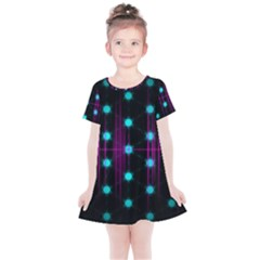 Sound Wave Frequency Kids  Simple Cotton Dress by HermanTelo