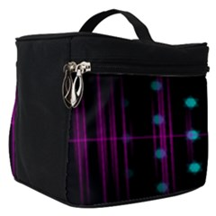 Sound Wave Frequency Make Up Travel Bag (small)