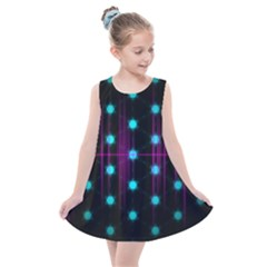 Sound Wave Frequency Kids  Summer Dress by HermanTelo