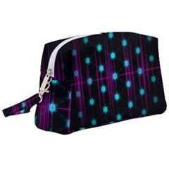 Sound Wave Frequency Wristlet Pouch Bag (large)