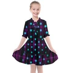 Sound Wave Frequency Kids  All Frills Chiffon Dress by HermanTelo