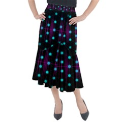Sound Wave Frequency Midi Mermaid Skirt