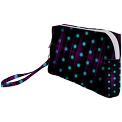 Sound Wave Frequency Wristlet Pouch Bag (small)