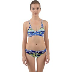 Lemonade Pattern Wrap Around Bikini Set by bloomingvinedesign