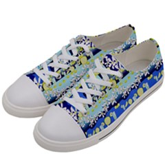 Lemonade Pattern Women s Low Top Canvas Sneakers by bloomingvinedesign