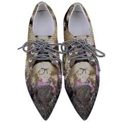 Cat Ears Doll Stained Glass Pointed Oxford Shoes