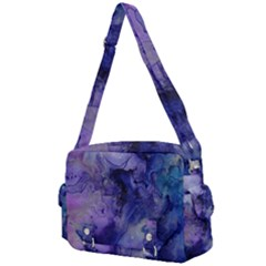 Blue Purple Ink                     Buckle Multifunction Bag by LalyLauraFLM