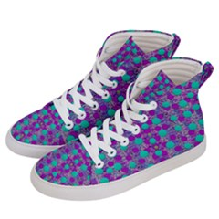 Happy Days Of Free  Polka Dots Decorative Men s Hi-top Skate Sneakers by pepitasart