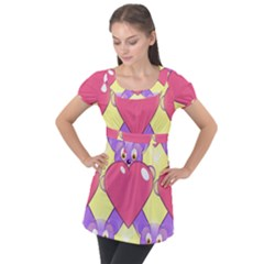 Seamless Repeating Tiling Tileable Puff Sleeve Tunic Top by Wegoenart