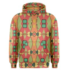 Pattern Orange Green African Men s Pullover Hoodie