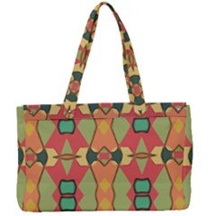 Pattern Orange Green African Canvas Work Bag by Wegoenart