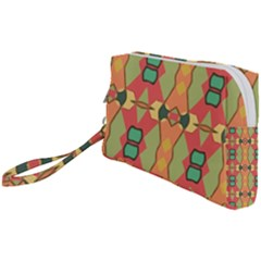Pattern Orange Green African Wristlet Pouch Bag (small)