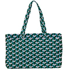 Pattern Green Blue Grey Hues Canvas Work Bag by Wegoenart