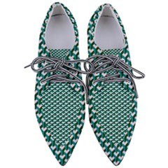 Pattern Green Blue Grey Hues Pointed Oxford Shoes