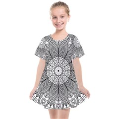 Mandala Meditation Zen Flower Yoga Kids  Smock Dress