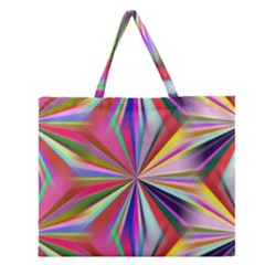 Seamless Repeating Tiling Tileable Abstract Zipper Large Tote Bag