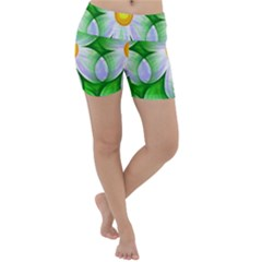 Seamless Repeating Tiling Tileable Flowers Lightweight Velour Yoga Shorts
