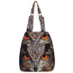 Owl Bird Eyes Eagle Owl Birds Center Zip Backpack