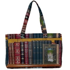 Books Library Bookshelf Bookshop Canvas Work Bag by Wegoenart