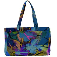 Flowers Abstract Branches Canvas Work Bag by Wegoenart