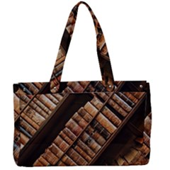 Books Bookshelf Classic Collection Canvas Work Bag by Wegoenart