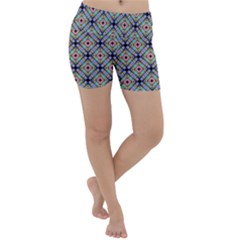 Pattern Wallpaper Background Abstract Geometry Lightweight Velour Yoga Shorts