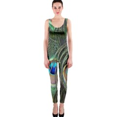 Peacock Feathers Peacock Bird One Piece Catsuit