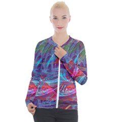 Neonchaos Casual Zip Up Jacket by designsbyamerianna