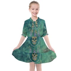 Dreamcatcher With Skull Kids  All Frills Chiffon Dress by FantasyWorld7
