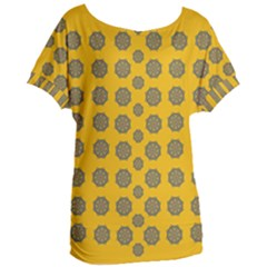 Sensational Stars On Incredible Yellow Women s Oversized Tee by pepitasart