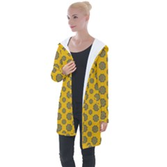 Sensational Stars On Incredible Yellow Longline Hooded Cardigan by pepitasart