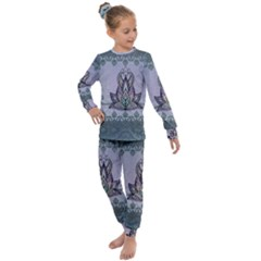 Abstract Decorative Floral Design, Mandala Kids  Long Sleeve Set  by FantasyWorld7
