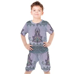Abstract Decorative Floral Design, Mandala Kids  Tee And Shorts Set by FantasyWorld7