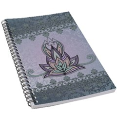 Abstract Decorative Floral Design, Mandala 5 5  X 8 5  Notebook by FantasyWorld7