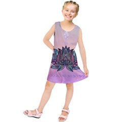 Abstract Decorative Floral Design, Mandala Kids  Tunic Dress by FantasyWorld7
