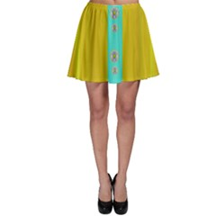 Colors And Flowers Skater Skirt