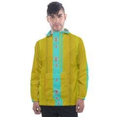 Colors And Flowers Men s Front Pocket Pullover Windbreaker by pepitasart