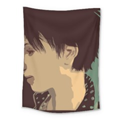 Punk Face Medium Tapestry by snowwhitegirl