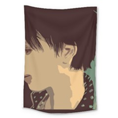Punk Face Large Tapestry by snowwhitegirl