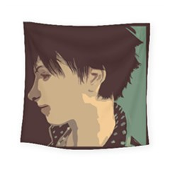 Punk Face Square Tapestry (small) by snowwhitegirl